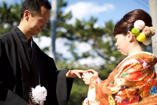結婚式 縁側