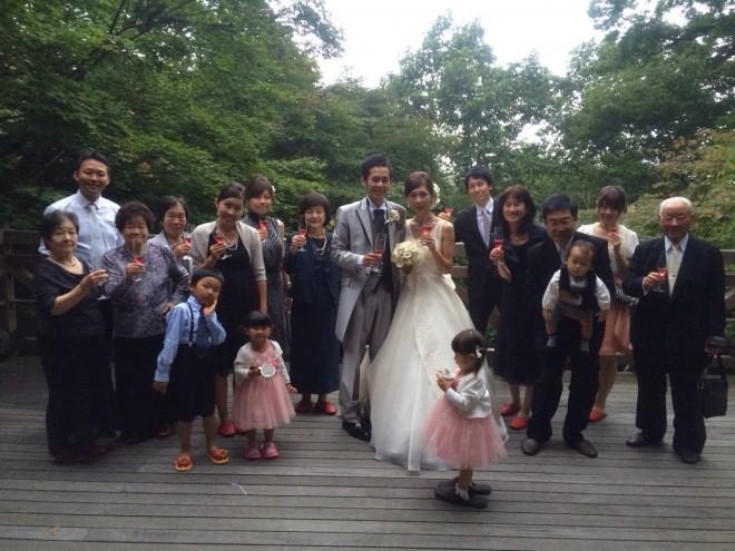 結婚式 家族