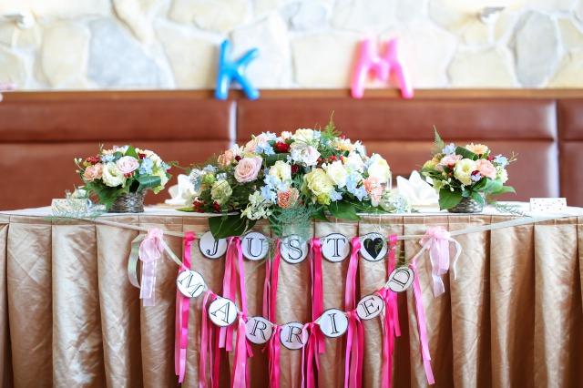 メイン,装花,パステル,会費婚