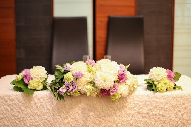 メイン,装花,ラベンダー,会費婚