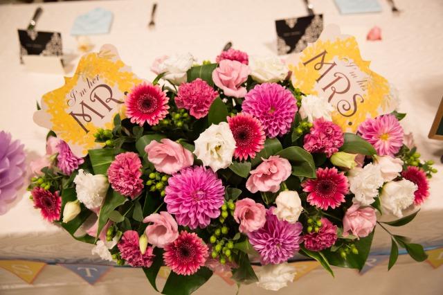 メイン装花,ピンク,DIY