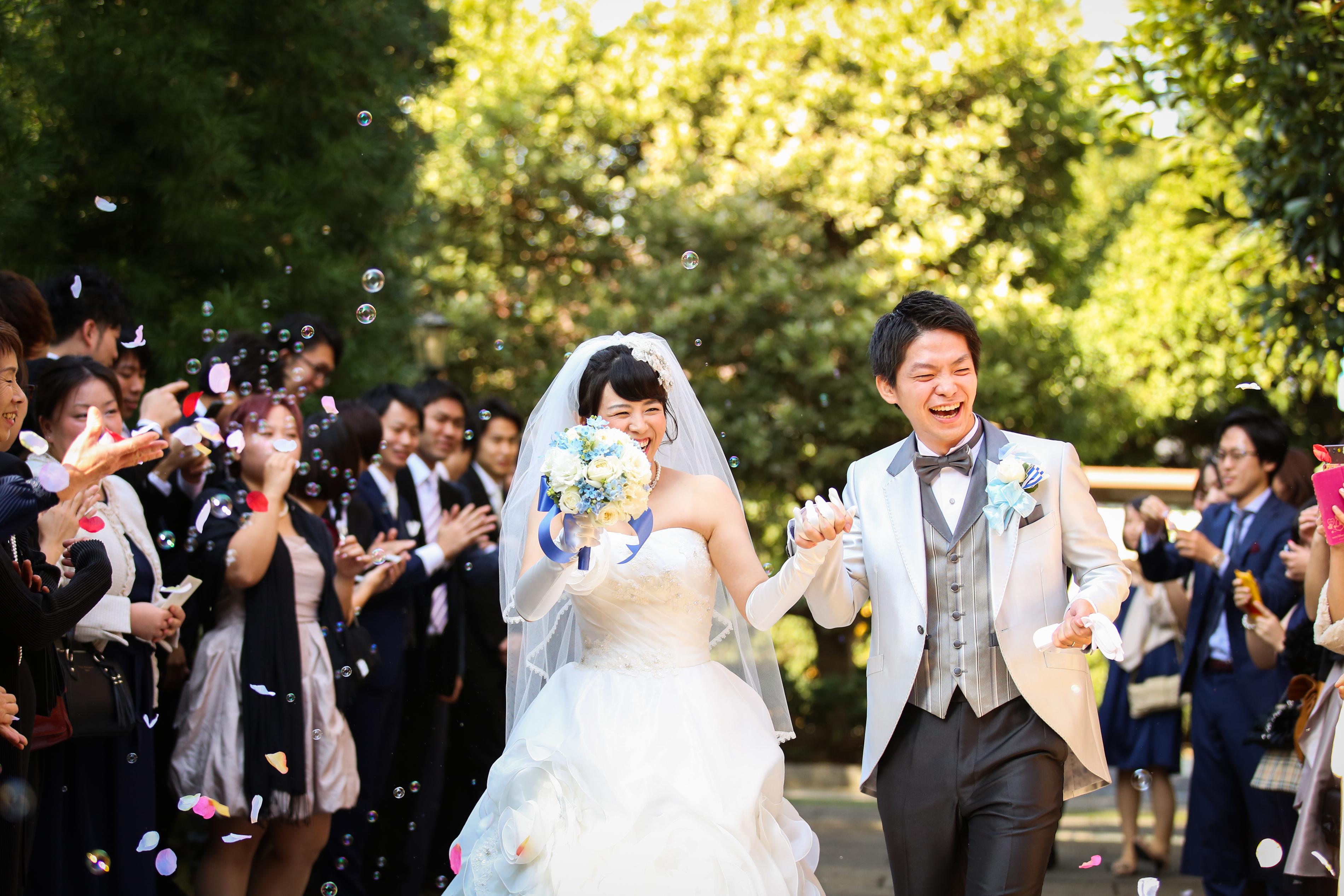 お二人の出身の地、埼玉で。ナチュラルなお二人にぴったりのグリーンに囲まれた「eglise de 葉山庵」